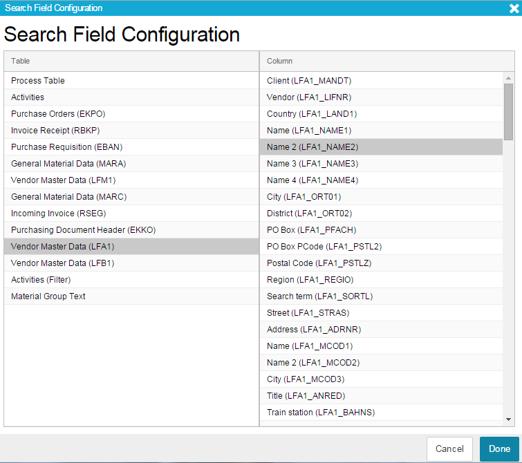 Filter Components (Analysis View) - SAP Process Mining by